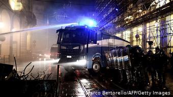 Ισχυρές αστυνομικές δυνάμεις στο Τορίνο