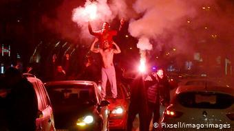 Πανηγυρισμοί στα Σκόπια για την πρόκριση στα τελικά του Πανευρωπαϊκού Πρωταθλήματος