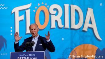 Από προεκλογική συγκέντρωση του Μπάιντεν στη Φλόριντα