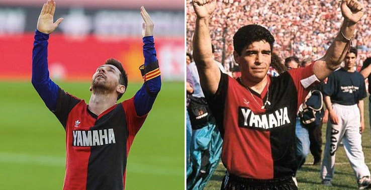 Messi Pays Tribute to Maradona by Wearing His Old Shirt Under Barça Shirt For Full Game - Footy Headlines