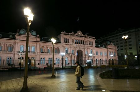 The Casa Rosada Presidential Palace is seen in Buenos Aires