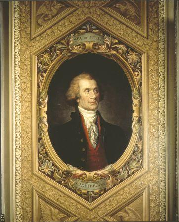 «Τόμας Τζέφερσον», έργο του Μπρουμίδη στην Αίθουσα Προέδρου