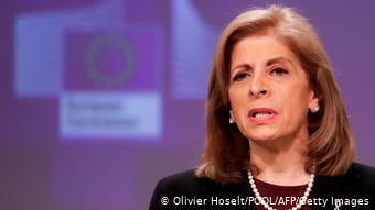Η επίτροπος Στέλλα Κυριακίδου σε συνέντευξη Τύπου