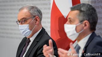 Ο πρόεδρος και ο υπ.Εξωτερικών της Ελβετίας